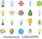 color flat icon set energy... | Shutterstock .eps vector #1286249995