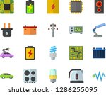 color flat icon set energy... | Shutterstock .eps vector #1286255095