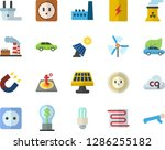 color flat icon set sockets... | Shutterstock .eps vector #1286255182