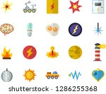 color flat icon set switch box... | Shutterstock .eps vector #1286255368