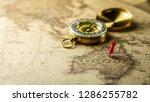 single red pushpin marking a...   Shutterstock . vector #1286255782