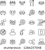 thin line icon set   spoon and... | Shutterstock .eps vector #1286257048