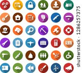 color back flat icon set   hay...   Shutterstock .eps vector #1286257375