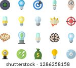 color flat icon set energy... | Shutterstock .eps vector #1286258158