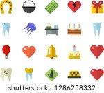 color flat icon set cauldron... | Shutterstock .eps vector #1286258332