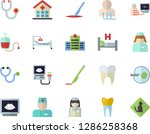 color flat icon set blood... | Shutterstock .eps vector #1286258368