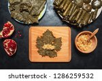 stuffed grape leaves.... | Shutterstock . vector #1286259532