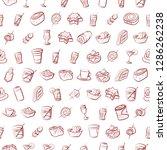 drinks and snacks set.... | Shutterstock .eps vector #1286262238