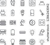 thin line icon set   bulb... | Shutterstock .eps vector #1286263042