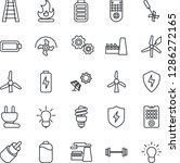 thin line icon set   factory... | Shutterstock .eps vector #1286272165