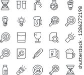 thin line icon set   document... | Shutterstock .eps vector #1286272198