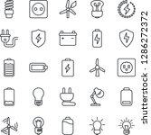 thin line icon set   bulb... | Shutterstock .eps vector #1286272372