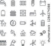 thin line icon set   bulb... | Shutterstock .eps vector #1286274388