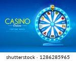 fortune wheel spinning  on...   Shutterstock .eps vector #1286285965