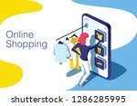 sale  consumerism and people... | Shutterstock .eps vector #1286285995