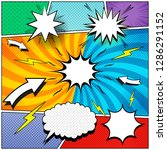 comic book page background with ... | Shutterstock .eps vector #1286291152