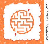 color round simple labyrinth.... | Shutterstock .eps vector #1286292295