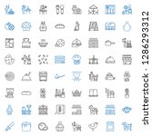 cook icons set. collection of... | Shutterstock .eps vector #1286293312
