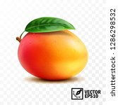 mango fruit with leaf on the... | Shutterstock .eps vector #1286298532