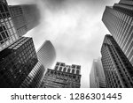 foggy chicago building looking... | Shutterstock . vector #1286301445
