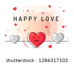 happy love and insight concept...   Shutterstock .eps vector #1286317102