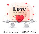 love is in the air. trendy flat ...   Shutterstock .eps vector #1286317105