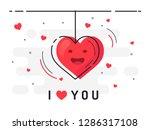 explosion of love. i love you....   Shutterstock .eps vector #1286317108