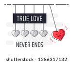 true love never ends. newton's ...   Shutterstock .eps vector #1286317132