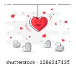 love symbol. set of laying...   Shutterstock .eps vector #1286317135