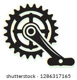 medhanical energy   cycle pedal ... | Shutterstock .eps vector #1286317165
