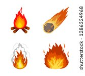 isolated object of fire and...   Shutterstock .eps vector #1286324968