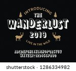 vintage 3d modern alphabet.... | Shutterstock .eps vector #1286334982