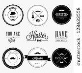 hipster style | Shutterstock .eps vector #128633558