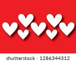 cute background with hearts | Shutterstock . vector #1286344312