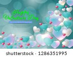 happy valentines day concept... | Shutterstock .eps vector #1286351995
