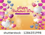 happy valentines day concept... | Shutterstock .eps vector #1286351998