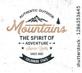 mountains typography. textured... | Shutterstock .eps vector #1286353645