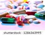close up of prescription pills... | Shutterstock . vector #1286363995