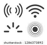 signal icons vector set iradio... | Shutterstock .eps vector #1286373892