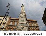san domenico obelisk in naples... | Shutterstock . vector #1286380225