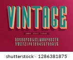 3d vector vintage  font and... | Shutterstock .eps vector #1286381875