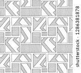 seamless vector pattern. black... | Shutterstock .eps vector #1286381878