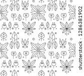 seamless vector black and white ... | Shutterstock .eps vector #1286381902