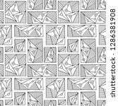 seamless vector pattern. black... | Shutterstock .eps vector #1286381908