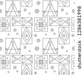 seamless vector pattern. black... | Shutterstock .eps vector #1286381998