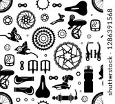 bicycles. seamless pattern of... | Shutterstock .eps vector #1286391568