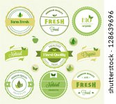 organic food labels | Shutterstock .eps vector #128639696