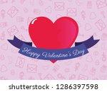 happy valentines day | Shutterstock .eps vector #1286397598