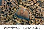 Aerial Top Down View Of Siena...