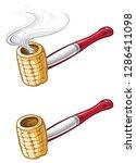 corn cob pipe   Shutterstock .eps vector #1286411098